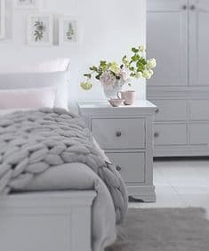 English Heritage 2 drawer bedside - dove grey
